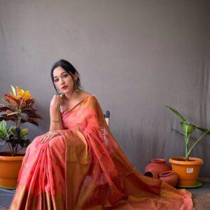 Linen Silk Saree