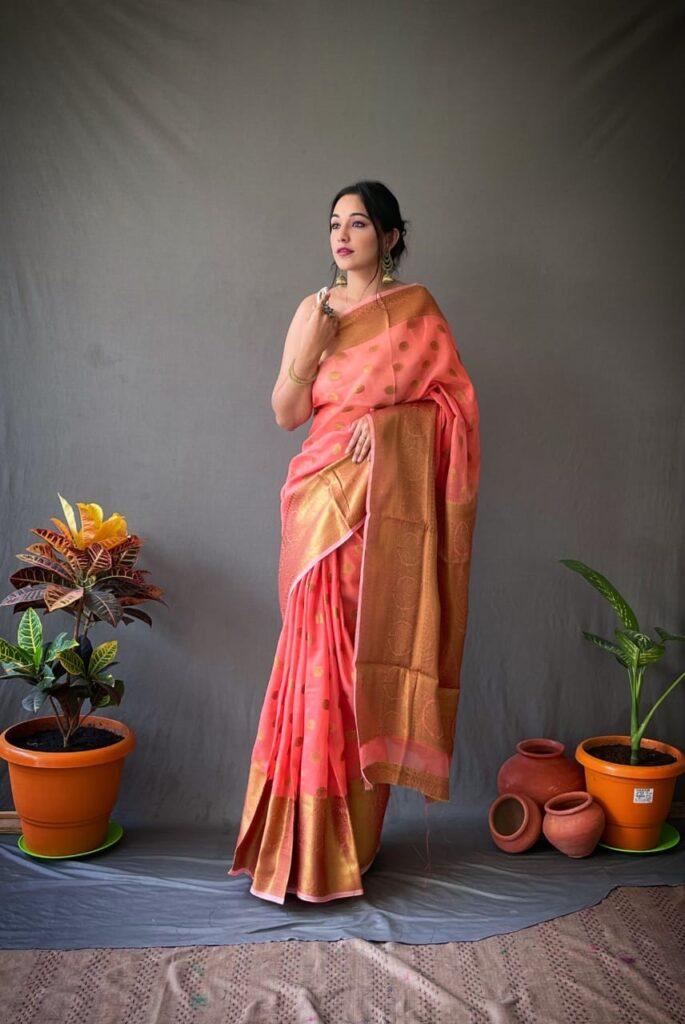 Line Silk Saree